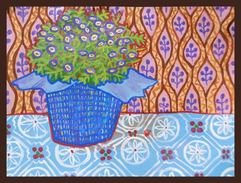flower pot patterned